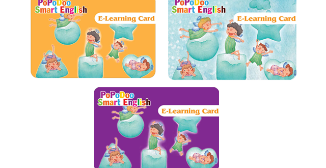 Thẻ học tiếng anh trẻ em trực tuyến E- Learning Card